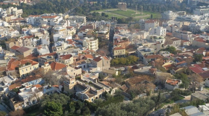 Aerial View of Plaka